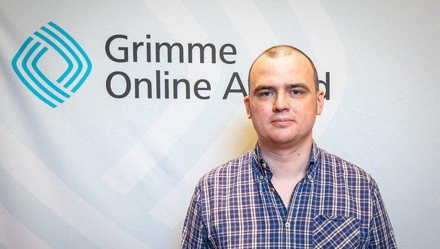 Tobias Vogel bei der Bekanntgabe der Nominierten Foto: Rainer Keuenhof / Grimme-Institut
