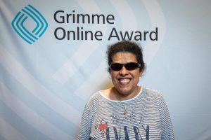 Lydia Zoubek bei der Bekanntgabe derNominierung zum Grimme Online Award 2019; Foto: Rainer Keuenhof/ Grimme-Institut