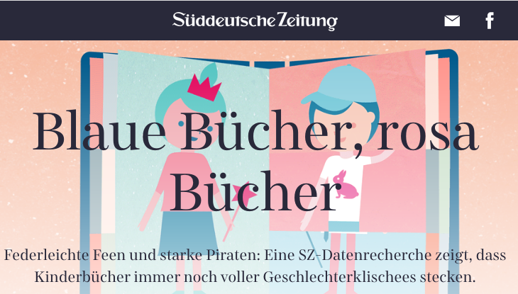 "Screenshot: ""Blaue Bücher, rosa Bücher"""