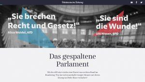 Screenshot: Das gespaltene Parlament