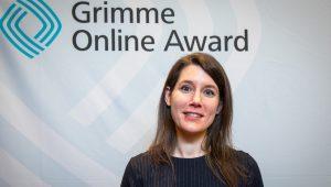 Kathrin Ahäuser, Gründerin des Projektes Pille Palle, bei der Nominierung zum Grimme Online Award 2019 Foto: Rainer Keuenhof / Grimme-InstitutPille Palle
