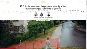 """Screenshot des Artikel """"Polen ist doch Einwanderungsland, für Ukrainer"""""""