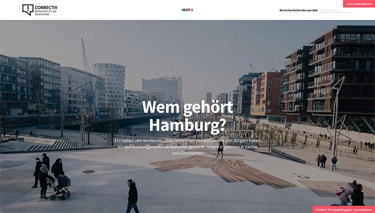 "Screenshot: ""Wem gehört Hamburg?"""