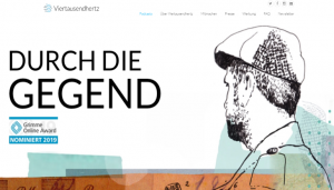 Screenshot: Durch die Gegend - Website