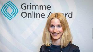 """Freya Schlingmann für """"Café Deutschland"""" bei der Nominierung zum Grimme Online Award 2019 Foto: Rainer Keuenhof / Grimme-Institut"""