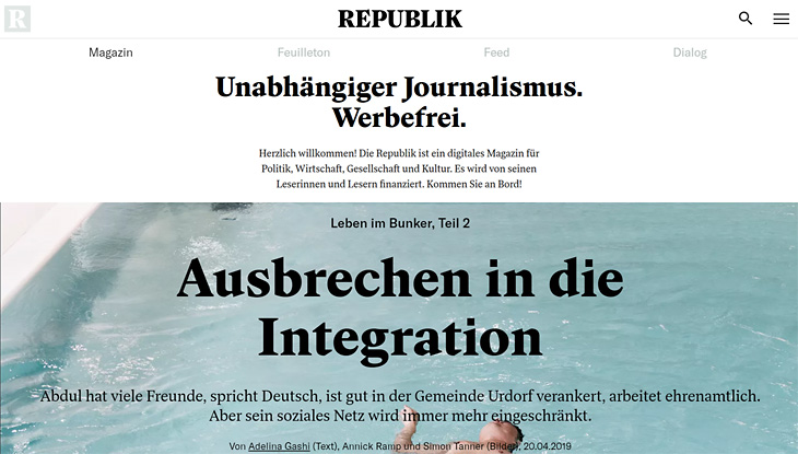 Screenshot Website Republik