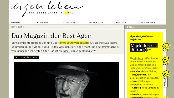 Screenshot: Website eigenleben.jetzt