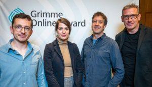 Nominierte bei der Bekanntgabe von links nach rechts: David Ohrndorf , Michelle Blum, Stefan Domke, Thomas Hallet