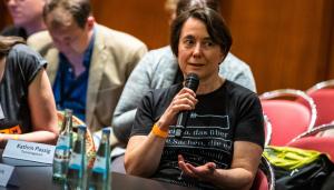 Techniktagebuch - Kathrin Passig bei der Bekanntgabe der Nominierten