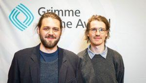 Kolja Warnecke (links) und Lukas Schepers (rechts) bei der Bekanntgabe der Nominierten. Foto: Rainer Keuenhof / Grimme-Institut