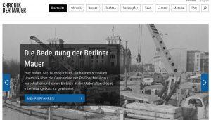 "Screenshot der Website ""Chronik der Mauer""."
