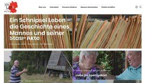 """Screenshot des Magazins """"ein Land"""" mit Teaserbildern."""