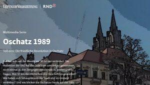 """Text und die Zeichnung eines Hauses auf dem Screenshot der Webdoku """"Oschatzer Wendegeschichten""""."""