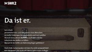 """Bild eines alten Koffers auf dem Screenshot der SWR-Webdoku """"Der Koffer aus dem Mauerstreifen""""."""