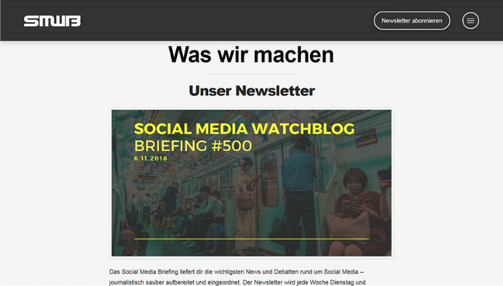 "Screenshot ""Social Media Watchblog"""