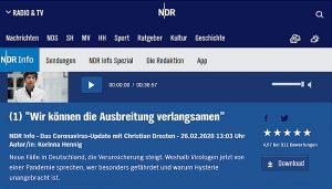 "Screenshot: ""Das Coronavirus-Update mit Christian Drosten"""