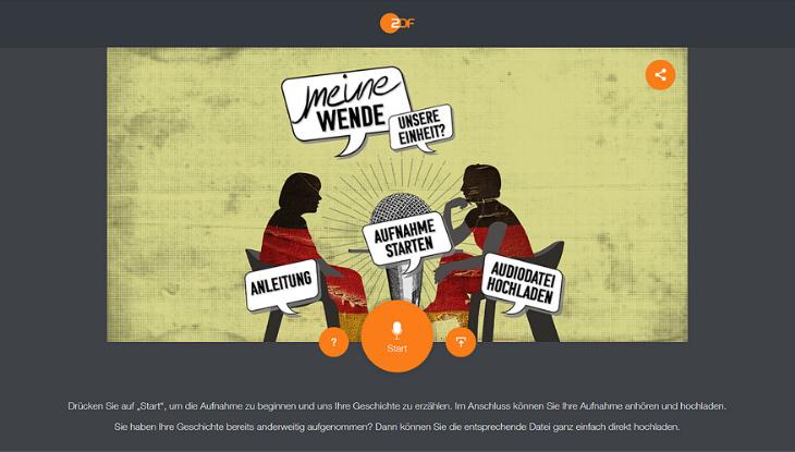 """Screenshot """"Meine Wende - Unsere Einheit"""""""
