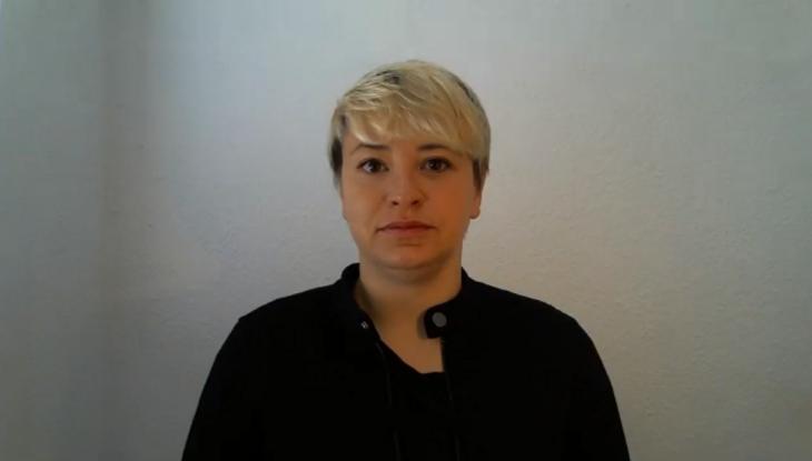 Screenshot Zoom: Caro Keller im Interview