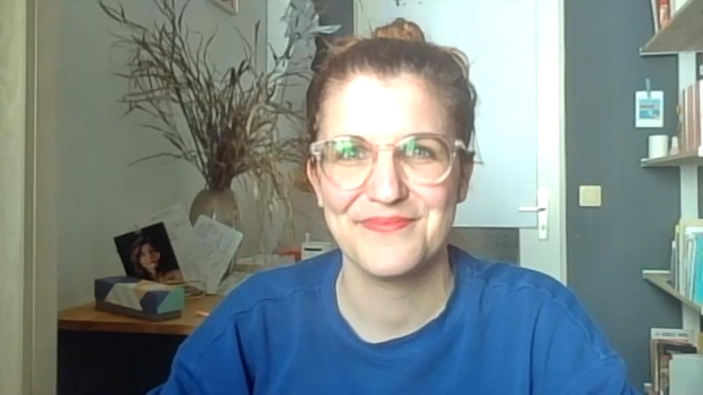 Screenshot aus dem Zoominterview mit Isabell Hummel