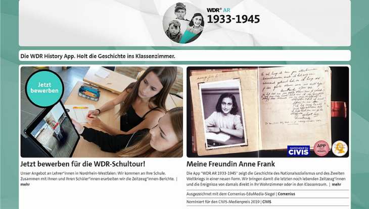 "Screenshot ""WDR AR 1933-1945"""