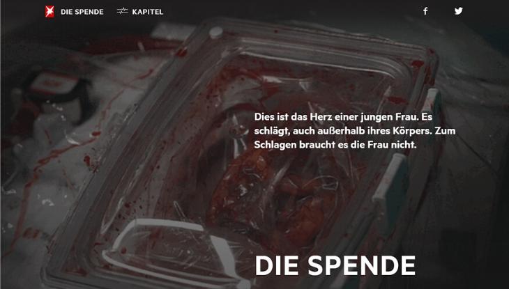 """Screenshot """"Die Spende"""""""