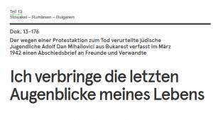 """Screenshot des Abschiedbriefs aus Teil 13 von """"DIe Quellen Sprechen"""""""