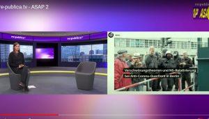 Screenshot des Vortrags von Katharina Nocun zu Verschwörungserzählungen auf der re:publica 2020.