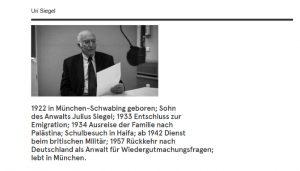 """Uri Siegler auf der Seite """"Die Quellen Sprechen"""""""