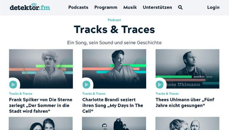 "Screenshot Titelseite ""Tracks & Traces"""
