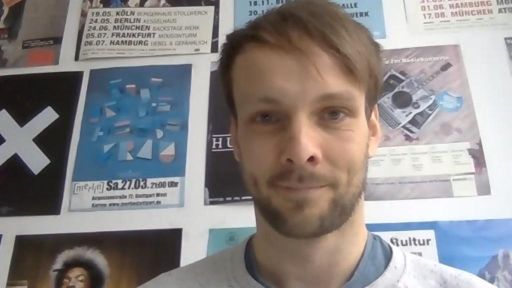 Screenshot aus dem Zoominterview mit Gregor Schenk