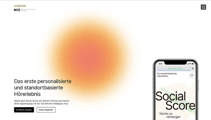 "Screenshot ""Social Score"""