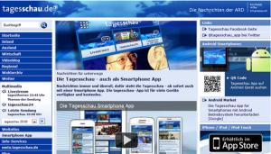 """Screenshot des Angebots """"Tagesschau App"""" von 2012"""