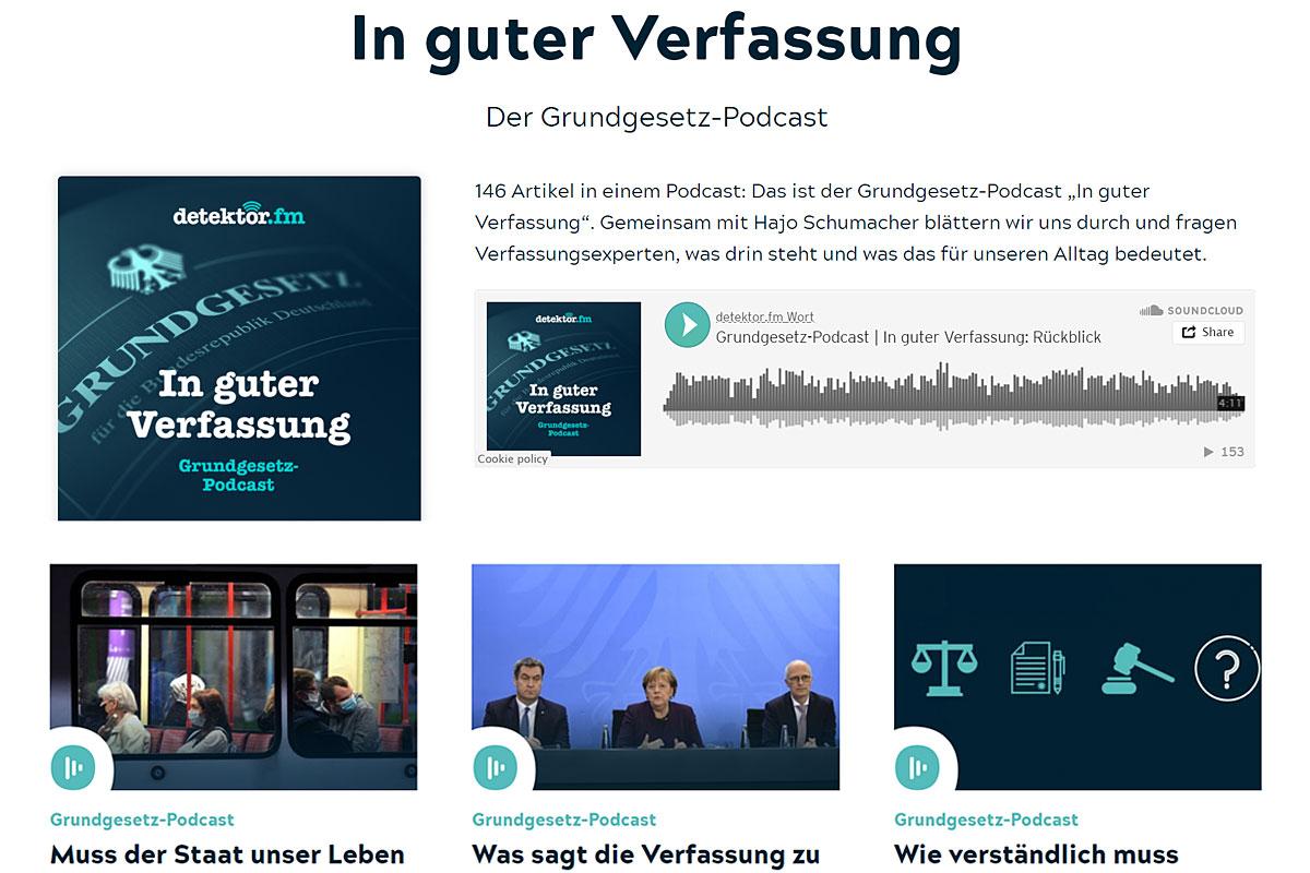 """Screenshot Podcast """"In guter Verfassung"""" von detektor.fm."""