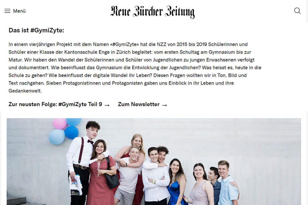 """Screenshot """"#GymiZyte"""" von der Neuen Zürcher Zeitung."""