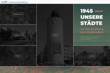 """Screenshot von """"1945 – Unsere Städte"""" des MDR."""