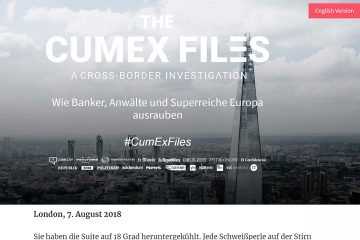 "Screenshot der ""Cum-Ex-Files"" von Correctiv."