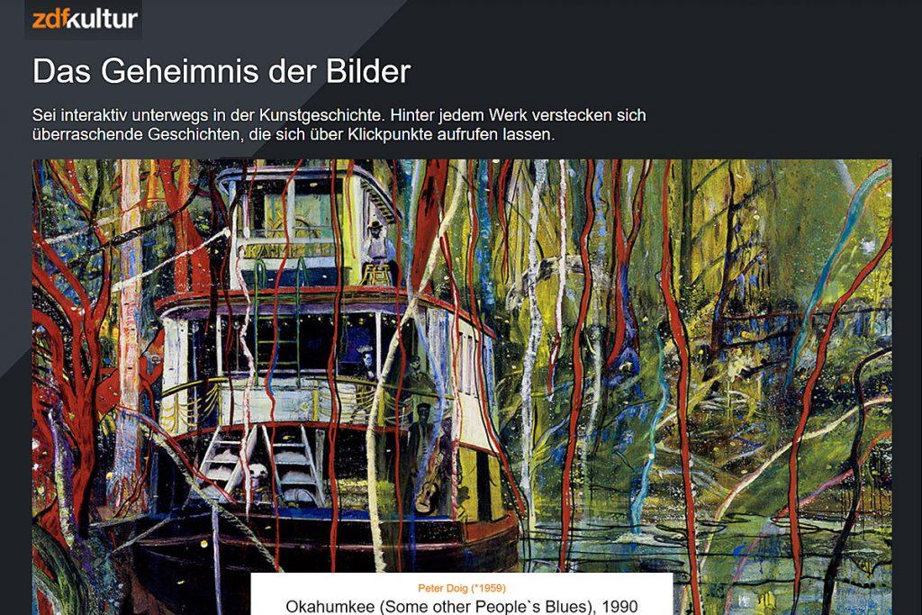 """Screenshot """"Das Geheimnis der Bilder"""" von ZDF Kultur."""