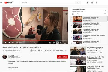 "Screenshot der YouTube-Playlist ""Deutschland was geht"" von Hazel & Thomas."