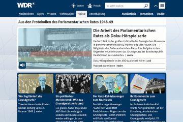 """Screenshot des WDR-Angebotes """"Guter Rat – Ringen um das Grundgesetz""""."""