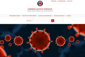 "Screenshot ""Corona Leichte Sprache"" von Anke Leichtfuß"