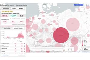 """Screenshot """"Coronavirus-Monitor"""" von Berliner Morgenpost"""
