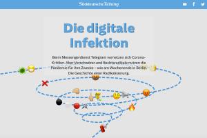 """Screenshot der Süddeutschen Zeitung """"Die digitale Infektion"""""""