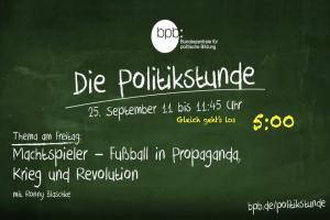 """Screenshot """"Die Politikstunde"""" von bpb Bundeszentrale für politische Bildung"""
