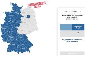 """Screenshot des """"Deutschland Quiz"""" des Statistischen Bundesamts."""
