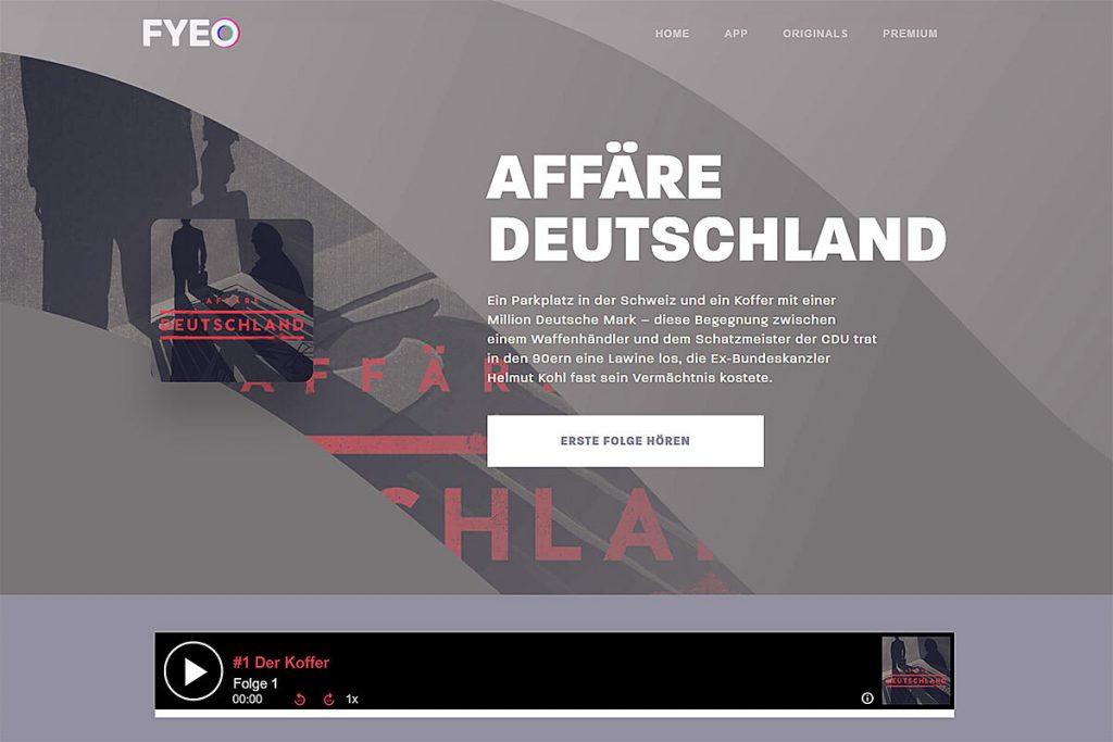 """Screenshot """"Affäre Deutschland"""""""