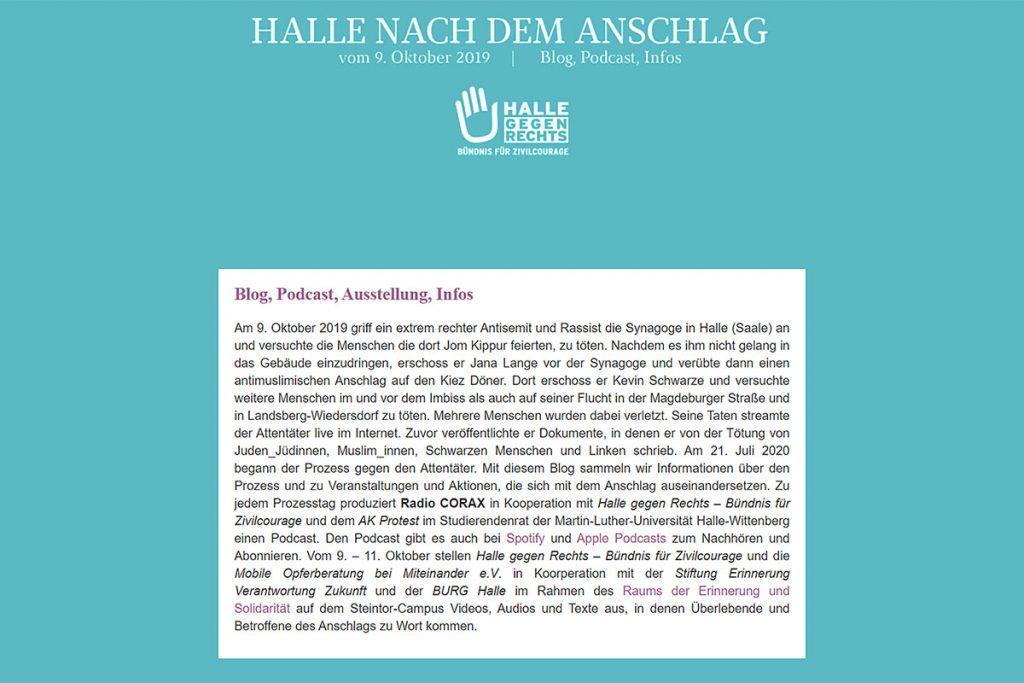 """Screenshot """"Halle nach dem Anschlag"""""""