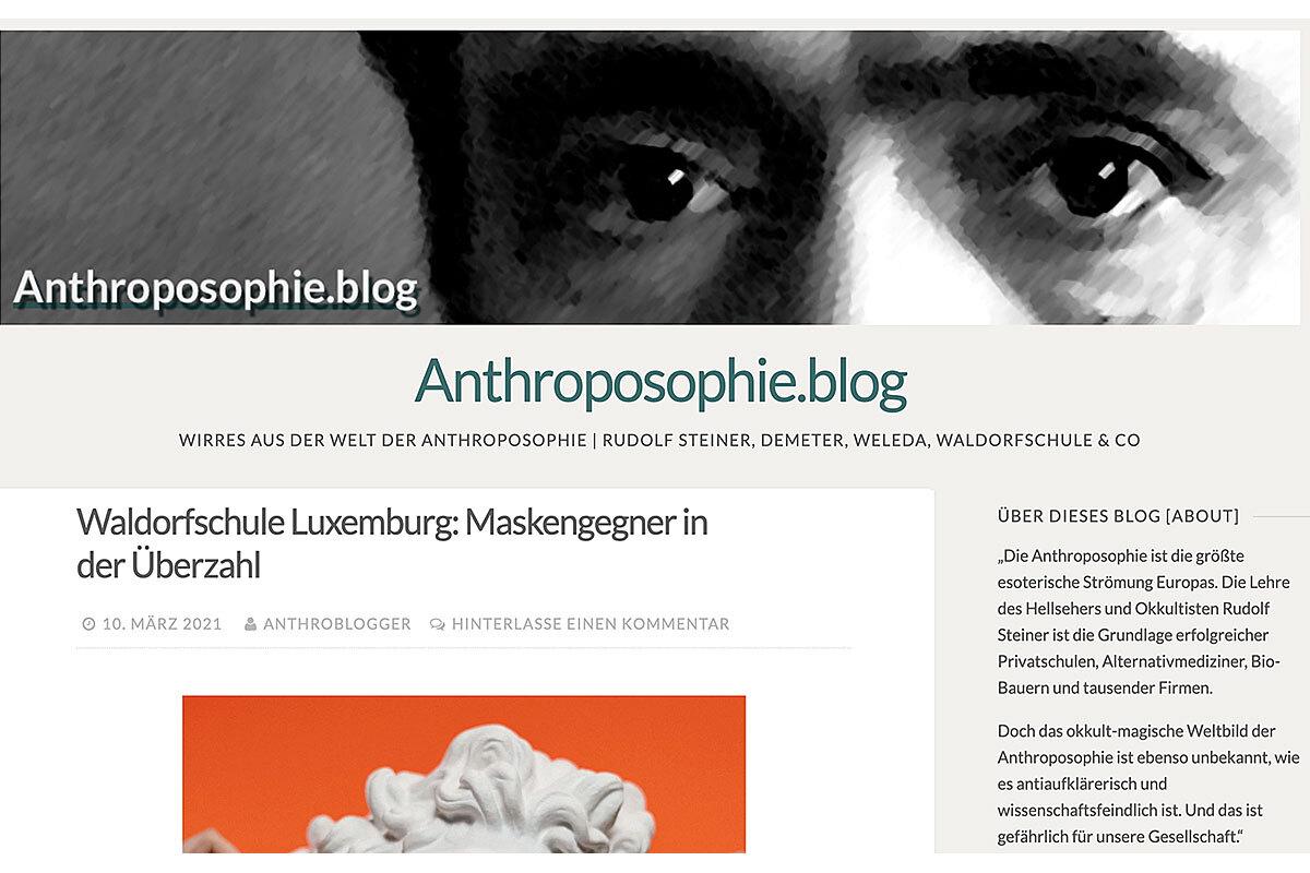 """Screenshot """"Anthroposophie.blog"""""""