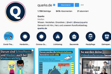 "Screenshot ""Quarks auf Instagram"""