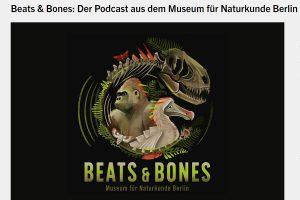 """Screenshot des Podcasts """"Beats & Bones"""" vom Museum für Naturkunde Berlin."""