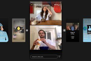 """Screenshot des Instagram-Videoprojektes """"Curfew Calls"""" von Studierenden der Filmhochschule München."""